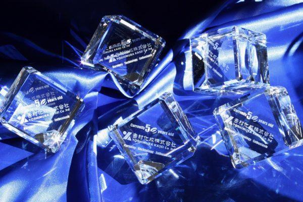 クリスタルガラス 記念品