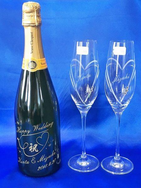 シャンパンボトル&グラス