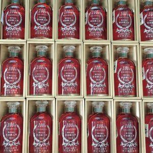 ボトル彫刻 梅酒