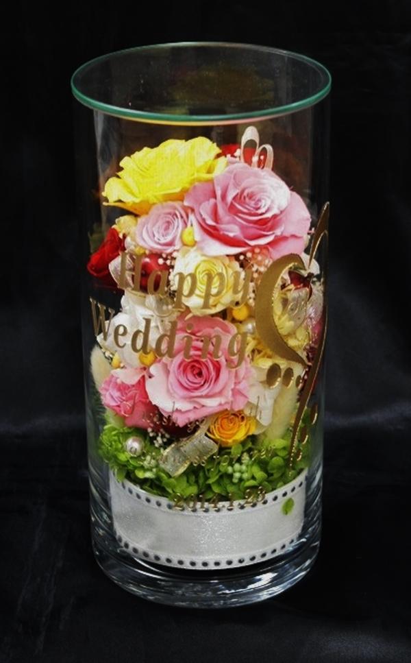 結婚式のお祝いに名入れプリザーブドフラワー