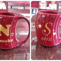 【プレゼントに♪】イニシャルマグカップ