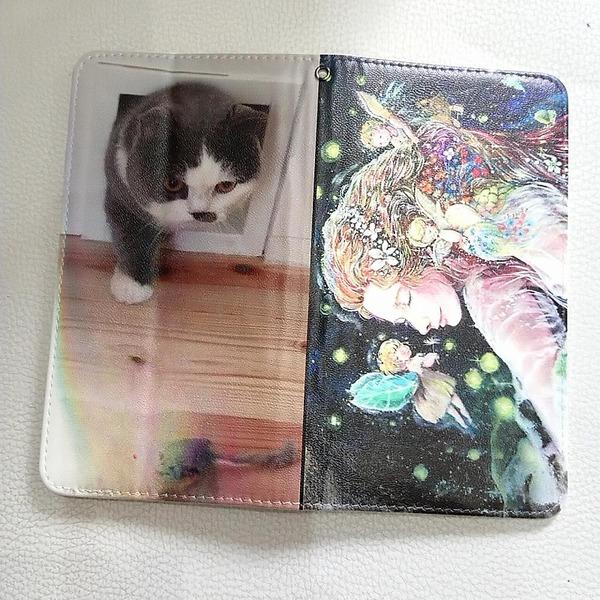 【UV印刷】手帳型スマホカバー♪