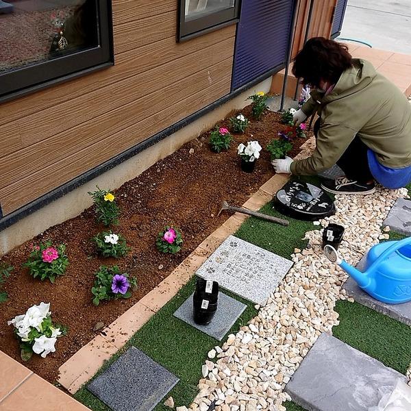 工房 日常 お花の植え替え