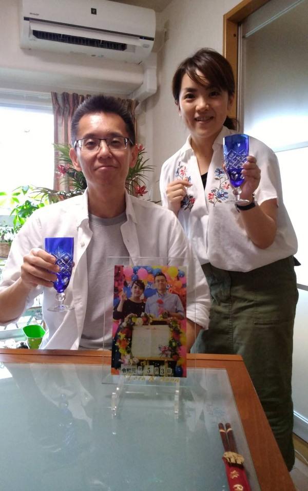 お客様からのお写真~UV印刷ガラスプレート~