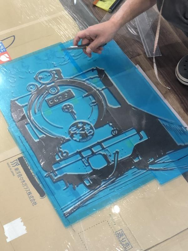 ほまれ保育園 ガラス彫刻 制作風景(1)
