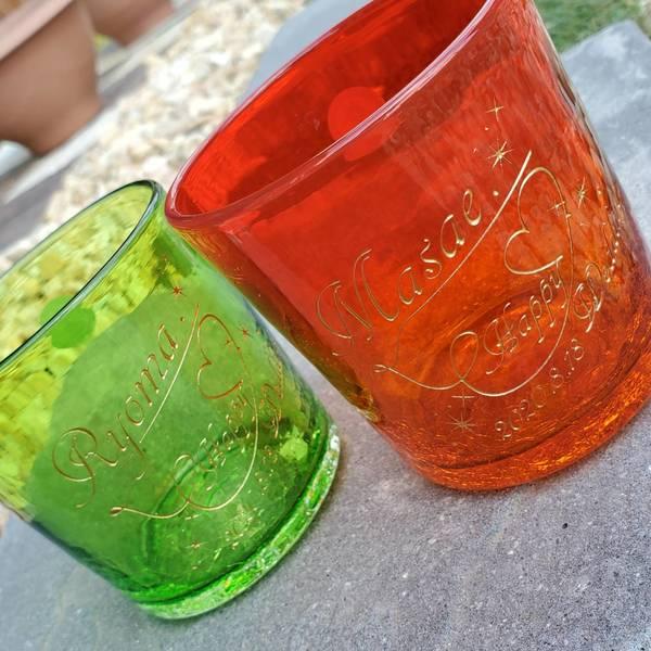 結婚祝いの琉球グラス