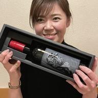 ワインボトルへ写真彫刻