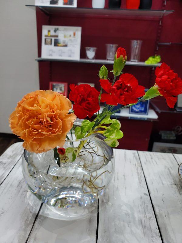 お花でパッと明るく♪