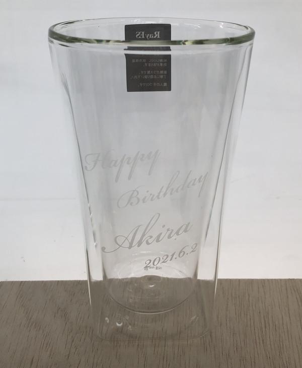 誕生日プレゼントに人気のダブルウォールグラスのご注文♪のサムネイル