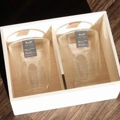 名入れ 彫刻 ペアグラス 木箱 RayES 300ml ギフト 保冷保温 結婚祝 御祝 人気 御礼