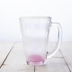 母の日 フルオーダー 泡立ちビール グラス ( ピンク ) あなたのデザインが形にできます