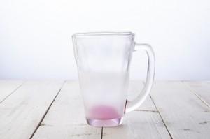 名入れ フルオーダー 泡立ち ビール グラス ピンク プレゼント 誕生日 入学 就職 記念日 母の日