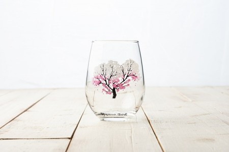 【冷感グラス「桜」冷感桜】 木箱入りペアグラス 結婚和のプレゼントや誕生日・記念日などのお祝いに!