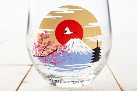 冷感グラス「富士山」冷感富士 木箱入りペアグラス 母の日のプレゼントや誕生日・記念日などのお祝いに!