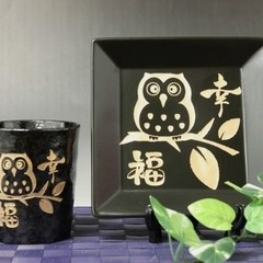 和飾り皿&和コップセット (試作品のため特価) 通販特価