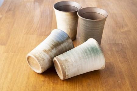 新商品 名入れ 彫刻 信楽焼 玄 フリーカップ ペア 誕生日 プレゼント かき氷 還暦 陶芸 限定