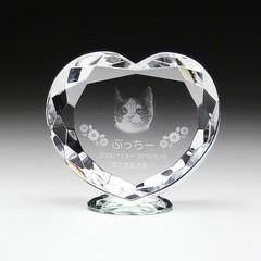 クリスタル ペット用お位牌(小)KP-6S 彫刻代金込み メモリアル ペット位牌 2D写真彫刻