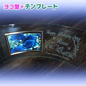 オリジナル 彫刻 ガラス フォトフレーム 横 結婚 七五三 記念日 誕生日 出産 御祝 プレゼント