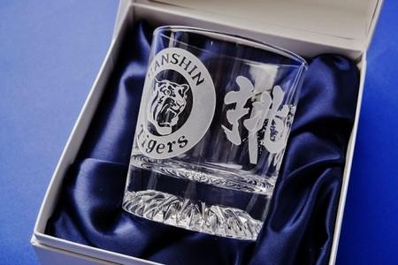 2017阪神タイガース承認彫刻ロックグラスロック(化粧箱入り)選手名入り